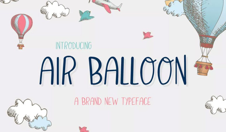Air Balloon Font