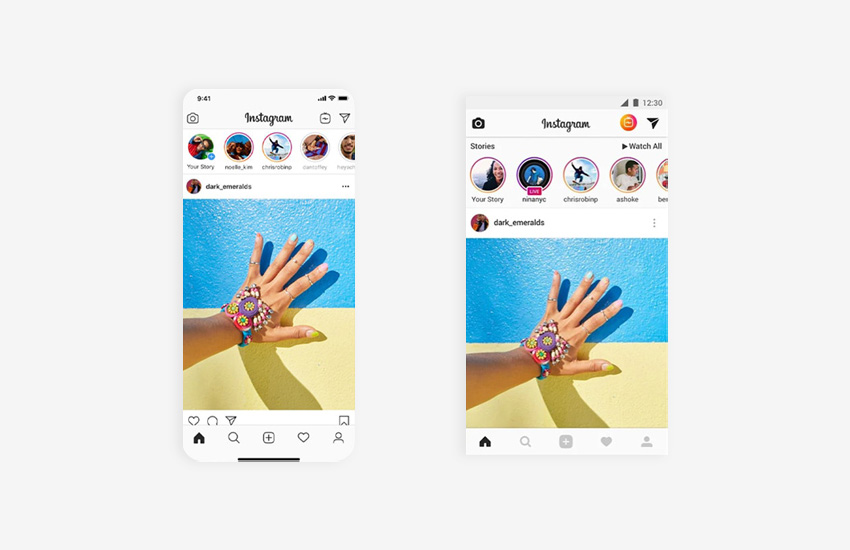 common interfaces from iOS and Android
