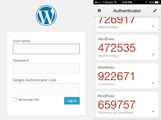 Final product image Google Two-Factor Authentication