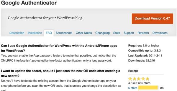 Google Authenticator WordPress Plugin by Henrik Schacks