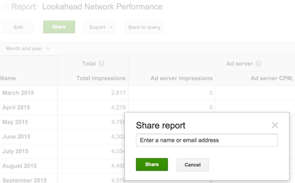 Introduction to Google DFP: Using Queries and Reports