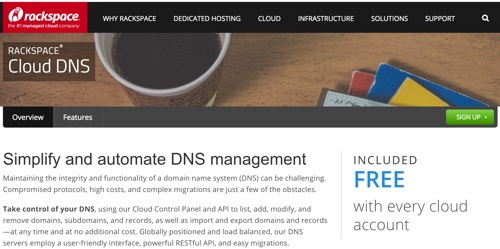 Amazon AWS Alternatives - RackSpace Cloud DNS