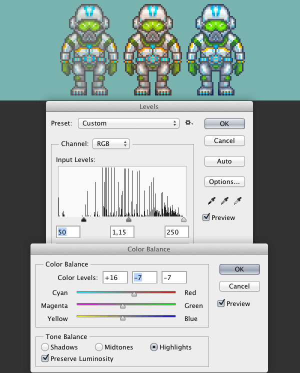 Tuning With Levels and Color Balance
