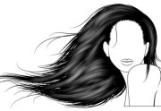 vector hair with brushes