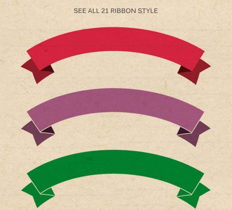 21 Flat Ribbons Brushes Set