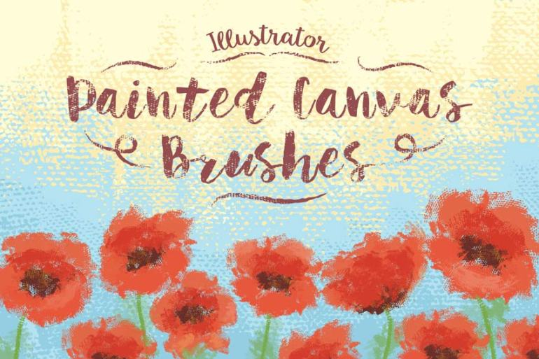 Illustrator Painted Canvas Brushes