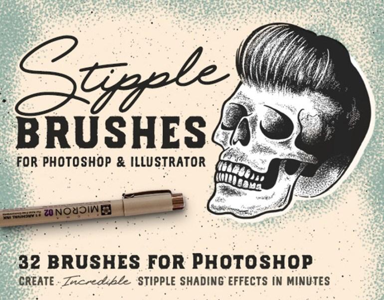 Stipple Brush Illustrator Set