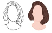 short hairstyle sketches - hairstyles