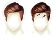 paint realistic hair