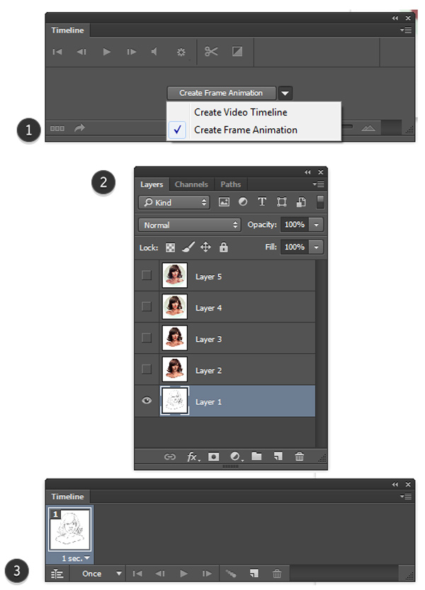 How To Create A Frame In Photoshop : create, frame, photoshop, Create, Animated, Work-in-Progress, Action, Adobe, Photoshop
