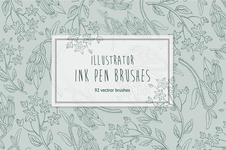 Hand Drawn Ink Illustrator Brushes