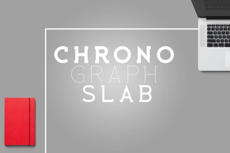 Chronograph Slab Font