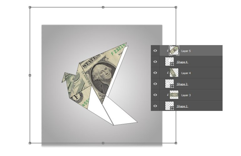 Add More Bills to the Origami Shapes
