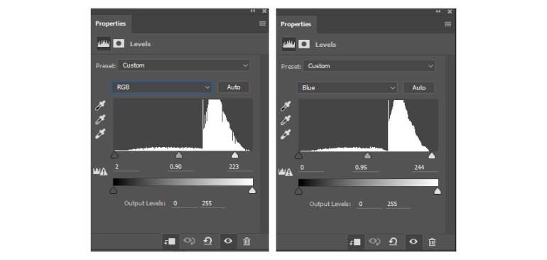 Add a New Adjustment Layer of Levels for intensity