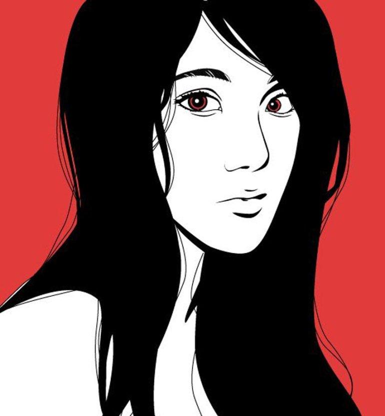 Line Portrait by Asiya Yergaleyeva