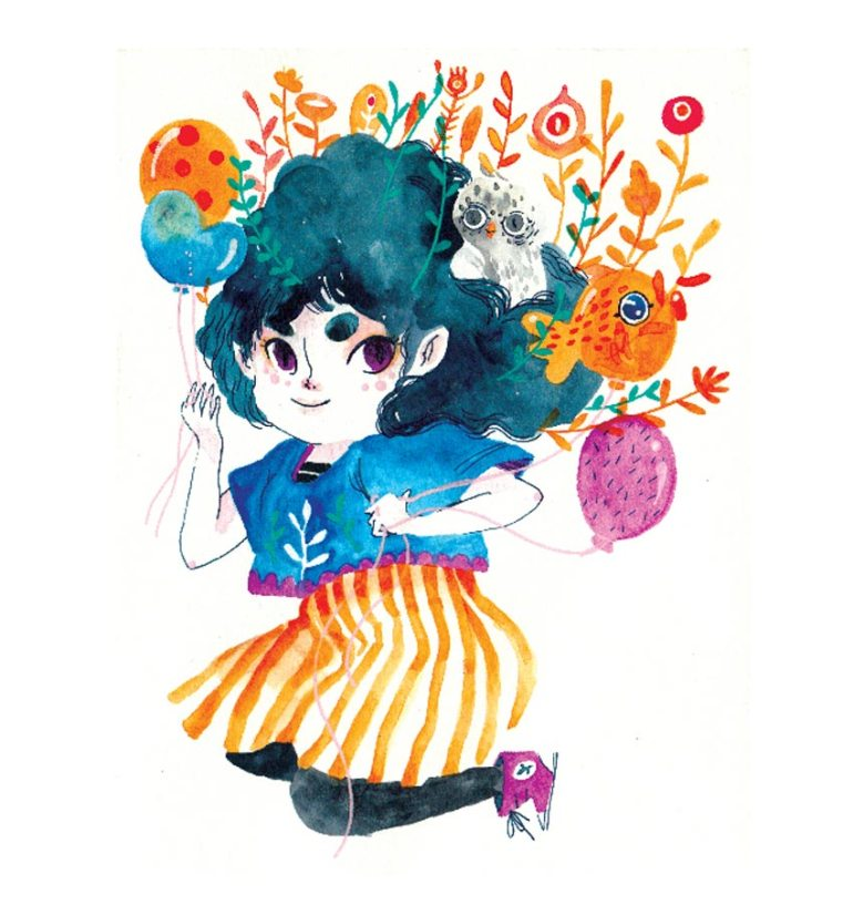 Watercolor Characters art by Daniela Arias