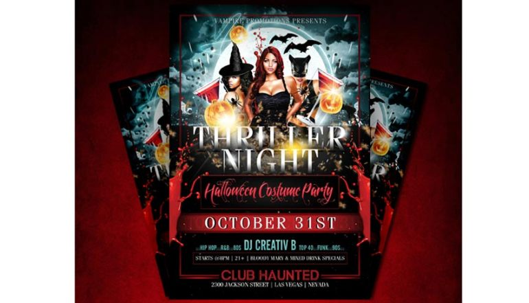 Sexy Thriller Halloween Flyer