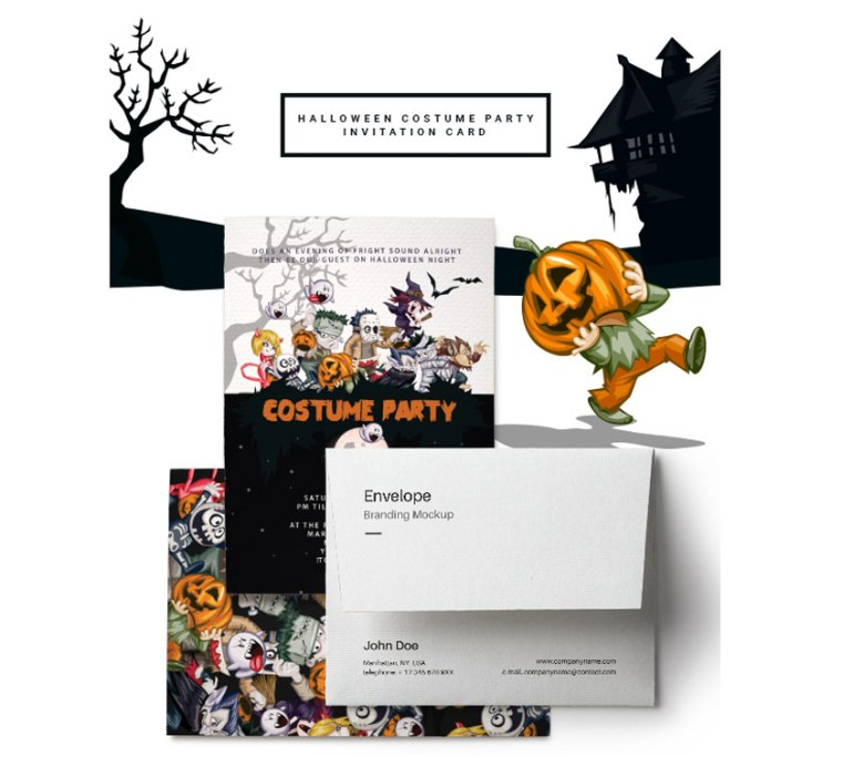 Halloween Costume Party Invitation Card