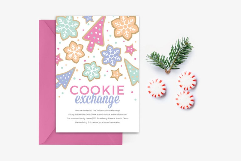 Cookie Swop Christmas Party Invitation