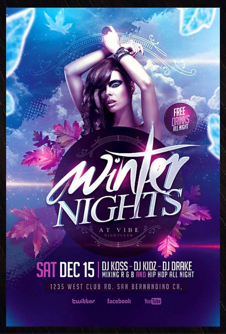 Winter Party Psd Flyer