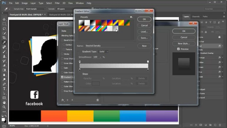Change the Colors by Editing Layer Styles