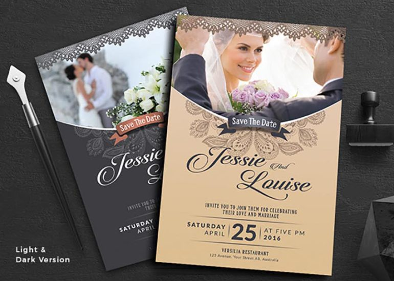 Elegant Wedding Invitation