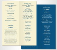 20 Elegant Wedding Program Templates - ThemeKeeper.com