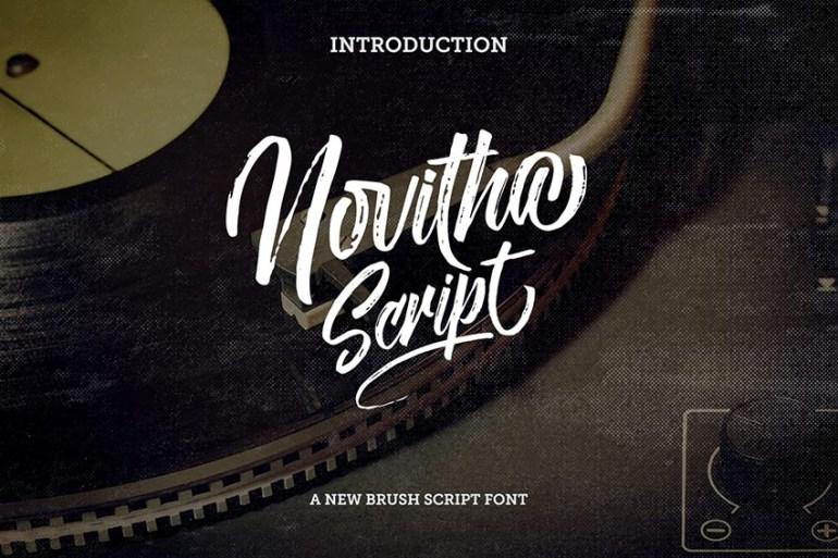 Novitha Script Font