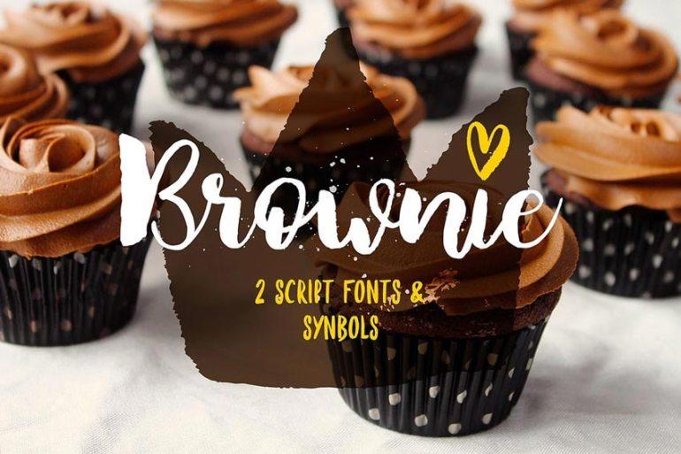 Brownie Brush Font