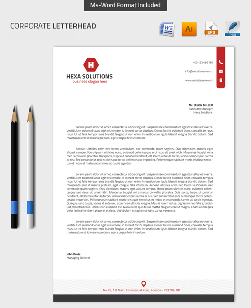 25 professional modern letterhead