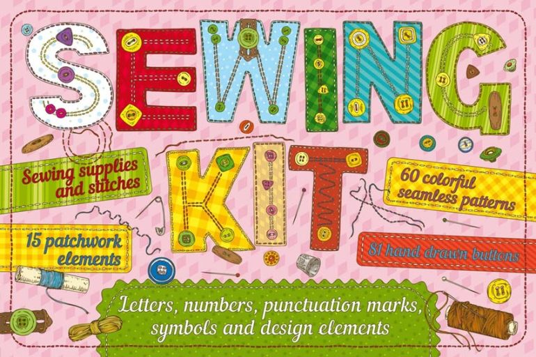 Vector Sewing Kit