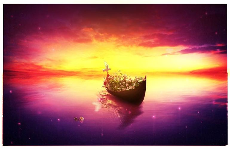 Create a Relaxing Vibrant Fantasy Lake Scene With Adobe Photoshop