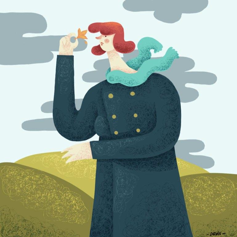 Fall Illustration by Denis Angelov