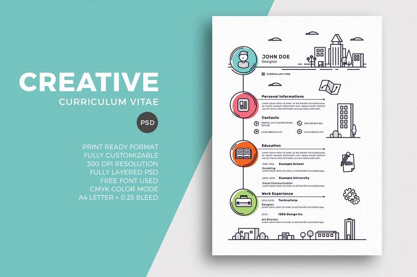 Best Of 2017 Stylish Professional CV & Resume Templates