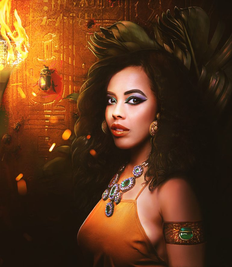 Egyptian Goddess Manipulation Photoshop Tutorial by Melody Nieves