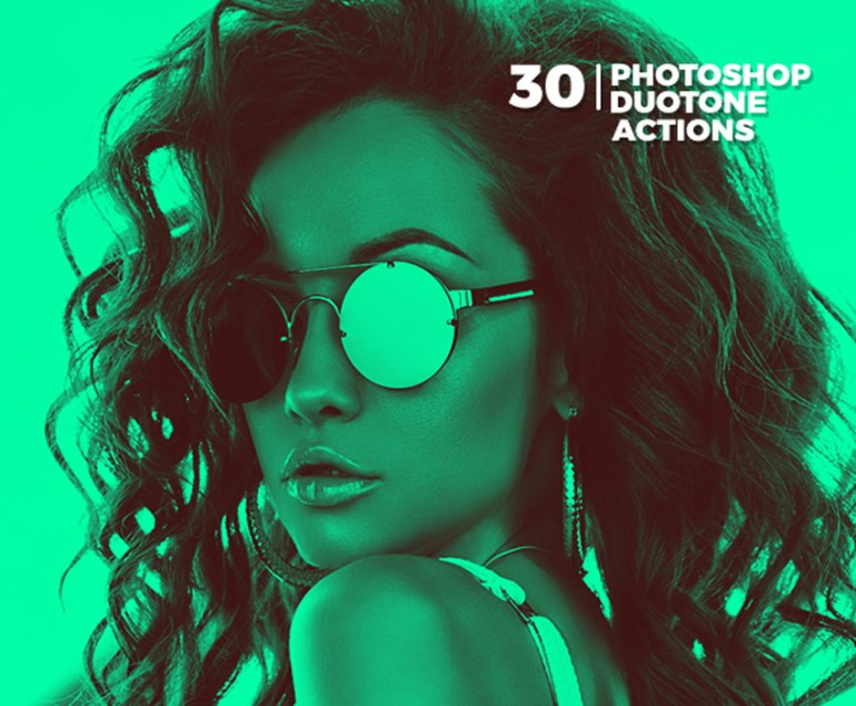 30 Duotone Photoshop Actions