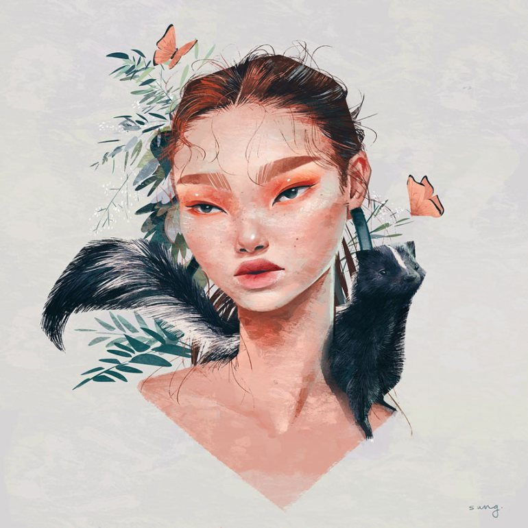 Tropical Bitties Series by Janice Sung