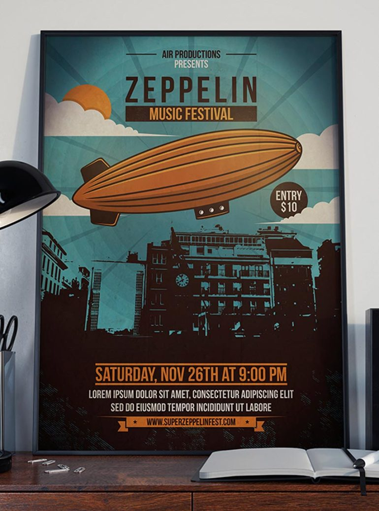 Sky Zeppelin Flyer Template