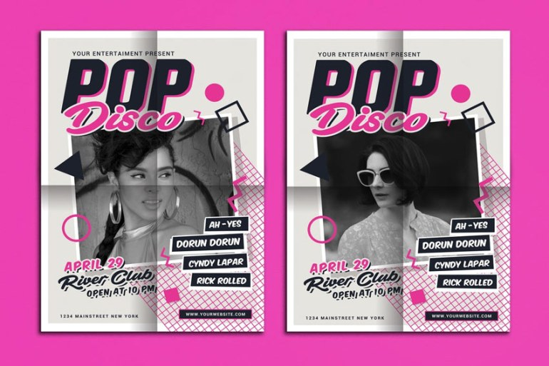 Classic Pop Disco Flyer