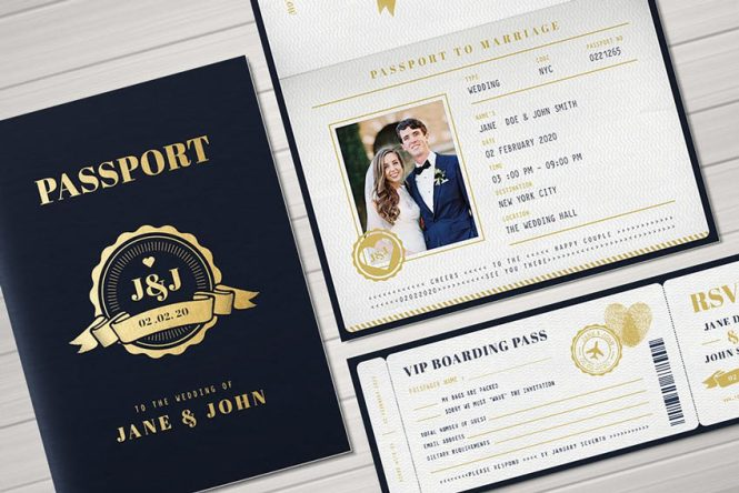 22 Modern And Unique Wedding Invites