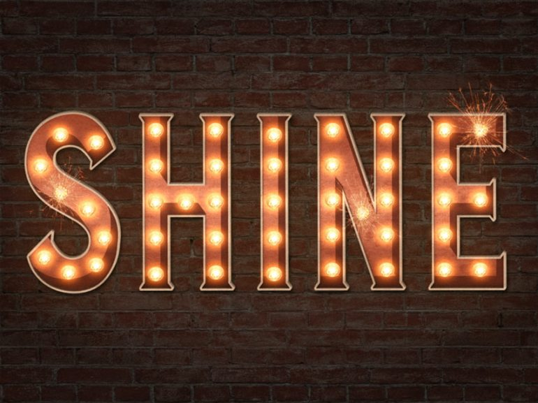 How to Create a 3D Marquee Bulb Sign Text Effect in Adobe Photoshop