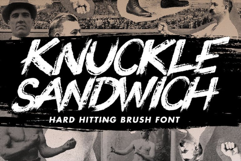 Knuckle Sandwich Handwritten Font