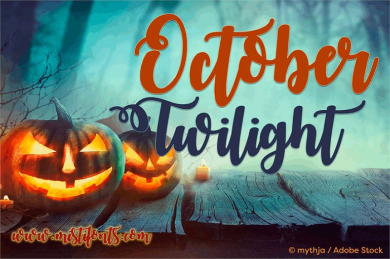 October Twilight Font