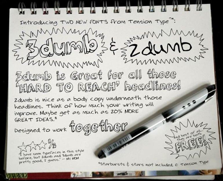 3Dumb Font