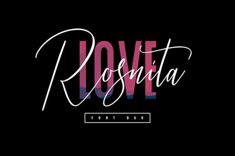 Love Rosnita Font Duo