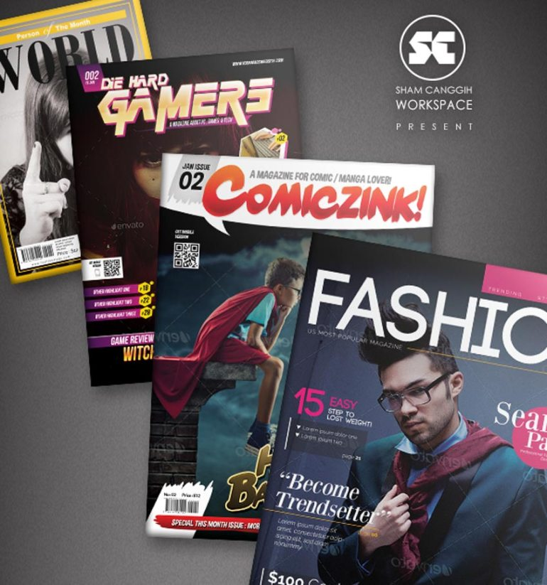 Magazine Cover Template 4 in 1