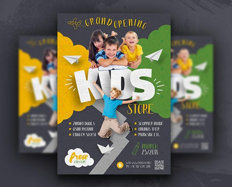 Kids Store Flyer Templates
