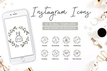 instagram highlight icons ig story covers highlights line seconds photoshop sorotan friend untuk floral fruit