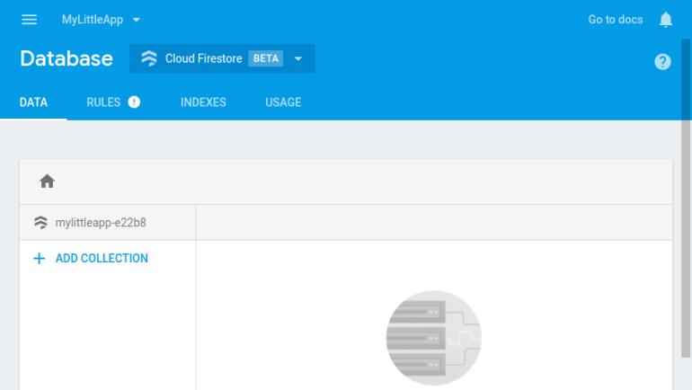 Empty Firestore database