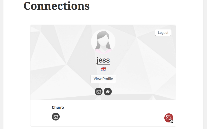 You can break a connection by opening your profile and then selecting Connections Remove connection